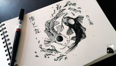 Tui and La Fanart – Avatar: The Last Airbender by Shioniart on DeviantArt – Tattoo Sketches & Tattoo Drawings Yin Yang Tattoos, Ying Und Yang Tattoo, Tatuajes Yin Yang, Dragon Yin Yang Tattoo, Kunst Tattoos, Body Art Tattoos, Sleeve Tattoos, Tatoos, Avatar Tattoo