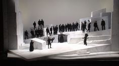 Cavalleria Rusticana at the Opera Bastille (shared with Teatro Real de Madrid). Production by Giancarlo del Monaco. Sets by Johannes Leiacker
