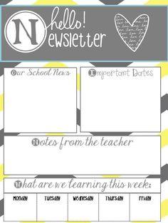 Weekly Newsletter Templates For Teachers   Third Grade   Pinterest ...