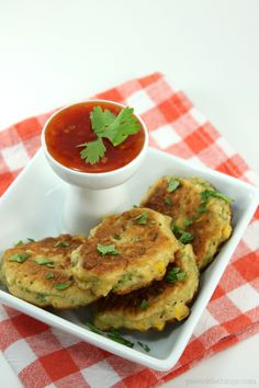 Corn Fritters with Sweet Chili Sauce