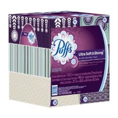 Puffs Ultra Soft & Strong Facial Tissues; 6 Family Boxes; 124 Tissues per Box  Order at http://www.amazon.com/Puffs-Strong-Facial-Tissues-Family/dp/B003YZOGO4/ref=zg_bs_15342811_29?tag=bestmacros-20