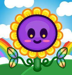 Sunflowz! ^.^ Plant Illustration, Planting Flowers, Kitty, Rainbows, Day, Outdoor Decor, Plants, Friends, Home Decor