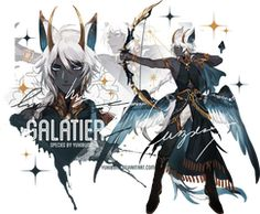 [galatier] auction [closed] by yukibuns Character Drawing, Character Concept, Concept Art, Anime Fantasy, Fantasy Art, Fantasy Characters, Anime Characters, Manga Art, Anime Art