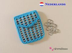 little purse with pop tabs crochet pattern in DUTCH-NEDERLANDS