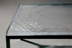 Wave table Lamp Design, Design Art, Interior Design, Unique Art, Installation Art, Beautiful Interiors, Water Patterns, Water Ripples, Architecture