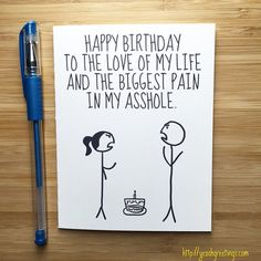 Funny Happy Birthday Card for Boyfriend by YeaOhGreetings on Etsy
