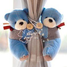 A Pair Tieback Little Bear Curtain Tie-Backs Nursery Curtains, Cute Teddy Bears, Curtain Tie Backs, Kids Bath, Felt Art, Felt Crafts, Cute Babies, Baby Gifts, Decorative Pillows