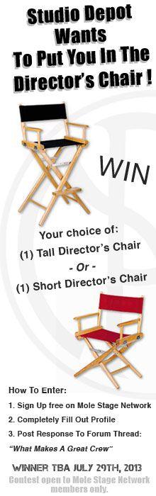 #StudioDepot & #MoleRichardson Want To Put You In The Director's Chair !    #molestagenetwork #molestage #molerichardsoncompany #lightingfromhollywood #themarkofquality #molerichardsonco #filmstudents #filmschool #ditrectorschair #contest #contests #filmmaking #filmmakers #diyfilm
