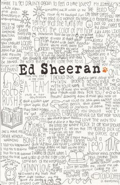 (2) ed sheeran Art Print by CalmOceans | Society6 on Wanelo