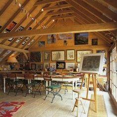 art studio in loft