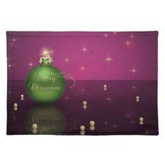 Merry Christmas Bauble - Placemat