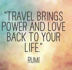 Disconnect from the digital and experience life through new eyes and sounds. #travel #quotes #life #love (Favorite Places Quotes)