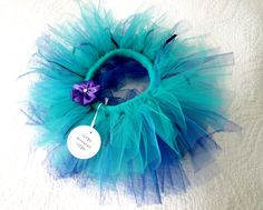Peacock Tutu Skirt / Ultra Fluffy Tutu for Babies by ShesAMiracle