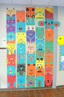 Thomas Elementary Art: totem poles