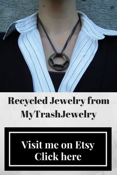 High fashion rustic jewelry from MyTrashJewelry - a perfect gift for her. This…