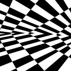 Alternating Wedges Casino Optical Illusion Art