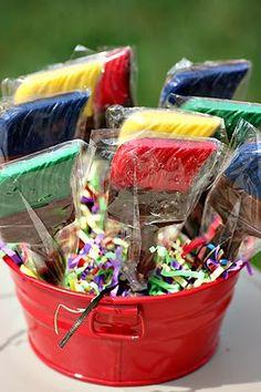 Custom paint brush chocolates for artist birthday party ;)