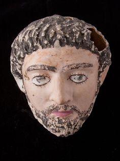 Funerary Mask Of A Man -  Circa 100 AD to 200 AD, Fayoum, Egypt