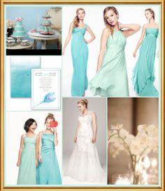 Cheap bridesmaid dresses- pool color