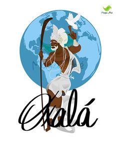 Camiseta - Oxalá, o criador Epa Baba, African Mythology, Queen Art, Spirited Art, Orisha, Cryptozoology, Gods And Goddesses, Illustrations And Posters, Deities