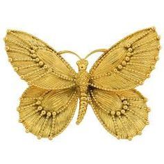 VAN CLEEF & ARPELS Yellow Gold Butterfly Pin #goldgame