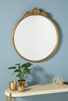 Shop the Gleaming Primrose Mirror at Anthropologie today. Read customer reviews, discover product details and more. Unique Mirrors, Vintage Mirrors, Round Mirrors, Decorative Mirrors, Parisian Bedroom, Bedroom Office, Bedroom Inspo, Master Bedroom, Glass Fit