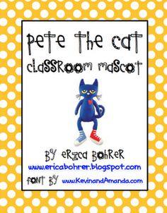 Pete the Cat Classroom Mascot