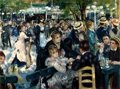 • Pierre-Auguste Renoir - Bal au moulin de la Galette (1876). Musée d'Orsay, Paris