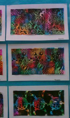 5th grade printmaking