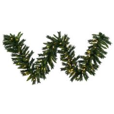 Vickerman PreLit Imperial Pine Garland with 50 Warm White Italian LED Lights 9Feet Green >>> For more information, visit image link.