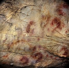 El Castillo Hands - 	  Pedro Saura/Agence France-Presse - Getty Images  •  Hand stencils at the El Castillo Cave in Spain have been dated to have been created earlier than 37,300 years ago, making them the oldest cave paintings in Europe.