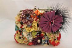 Gabrielle Handmade Clutch Coin Purse Flowers Set by littlelambshop