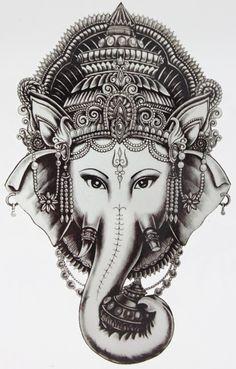 코끼리 문신 멋진 아름다움 섹시한 문신 방수 임시 문신 스티커