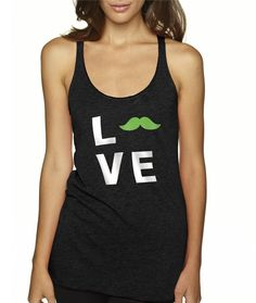 #Love Tank #mustache #fitness #yoga