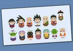 Dragon Ball Z parody  Cross stitch PDF pattern por cloudsfactory, $8.00