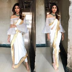 "41.1k Likes, 272 Comments - Shilpa Shetty Kundra (@theshilpashetty) on Instagram: ""Today's look for super dancer chapter 2 in outfit : @shantanunikhil sari, @22karat_jewellery choker…"""