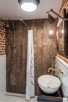 foorni.pl | Małe mieszkanie w klimacie loftu, mała łazienka