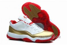 7c882891bdb7 Air Jordan 11 Retro Low Two Rings White Metal Gold-Red Men s Shoes .
