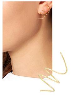 Boucles d'oreilles d'été: les néo créoles en or de Sophie Bille Brahe