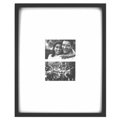 Fetco Home Decor Grenon Ivory Matted Double Picture Frame for Wall Gallery 6 by 4Inch Black >>> For more information, visit image link.