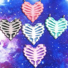 Hey, I found this really awesome Etsy listing at https://www.etsy.com/listing/176409143/pastel-goth-zombie-ribcage-heart