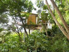 modernes haus auf stelzen-Casa Flotanta-steiler hang