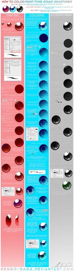 How to ColorScreentone Gems by =senbo-sama