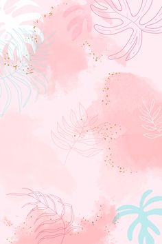 Pink leafy watercolor background vector | premium image by rawpixel.com / Aum #vector #vectoart #digitalpainting #digitalartist #garphicdesign #sketch #digitaldrawing #doodle #illustrator #digitalillustration #modernart #background Wallpaper Wa, Framed Wallpaper, Scenery Wallpaper, Wallpaper Backgrounds, Pink Wallpaper Landscape, Pastel Landscape, Pastel Background, Watercolor Background, Background Patterns