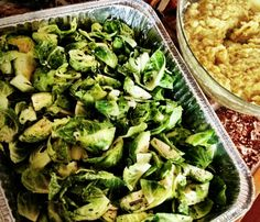 Skinny Holiday Recipes: Coconut-Rosemary Brussels Sprouts. #SkinnyHolidaySweeps