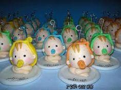 recuerdos para baby shower de masa flexible - Cerca con Google