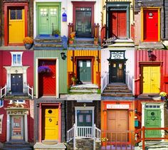 Find Collage Doors Roros Norway stock images in HD and millions of other royalty-free stock photos, illustrations and vectors in the Shutterstock collection. Thousands of new, high-quality pictures added every day. Granite City Illinois, Ecole Art, Colourful Buildings, Picture Postcards, Fairy Doors, Windows And Doors, Front Doors, Abstract Canvas, New Art