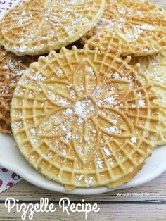 Pizzelles are a delicious Italian wafer cookie that my grandmother made every year for Christmas! Light and crispy, these buttery vanilla pizzelles are great for the holidays, dessert, or anytime. Your family will gobble these right up.