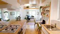 Galley Kitchen - Swallowtail by The Tiny House Company