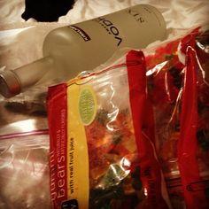 Drunken Gummy Bears with Kirkland Vodka and Targets brand of bears